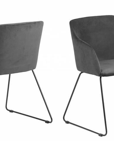 Jedálenská stolička s opierkami CASABLANCA, antracitová
