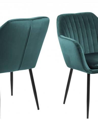 Jedálenská stolička s opierkami EMILIA, zelená