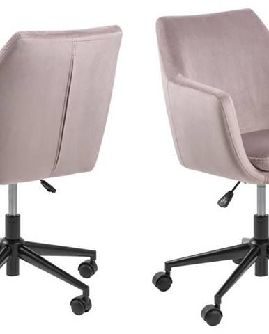 Kancelárska stolička NORA, ružová
