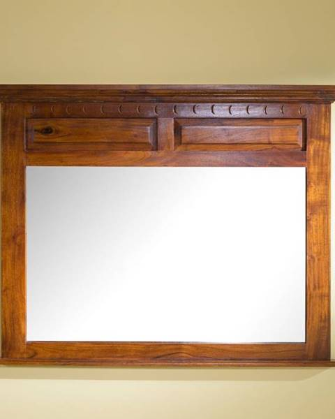 Bighome.sk CAMBRIDGE HONEY Zrkadlo 110x87 cm, akácia