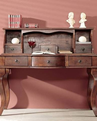 CAMBRIDGE Písací stôl 112x130 cm, akácia