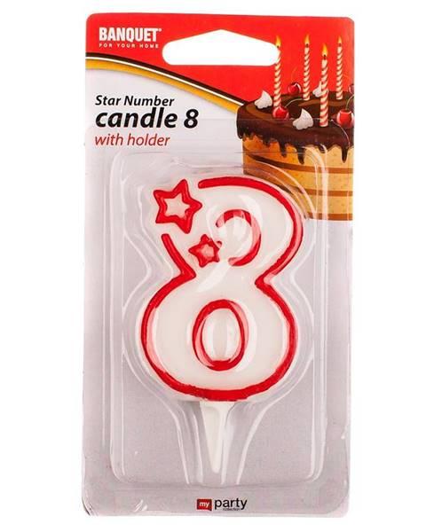 MERKURY MARKET Narodeninová sviečka na 8