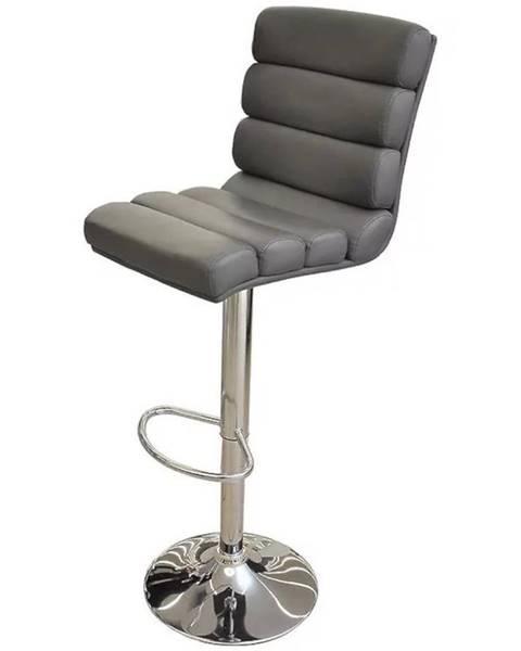 MERKURY MARKET Barová stolička Alpha sivá 7868