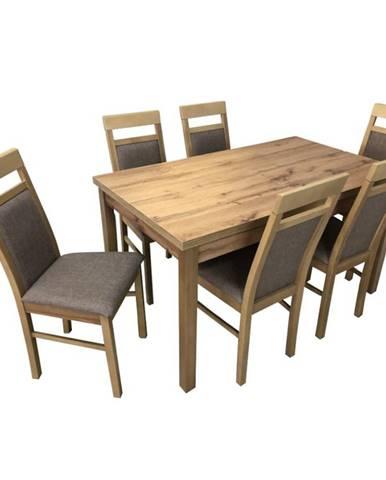Jedálenský stôl St-874 140x80+40 D.Wotan