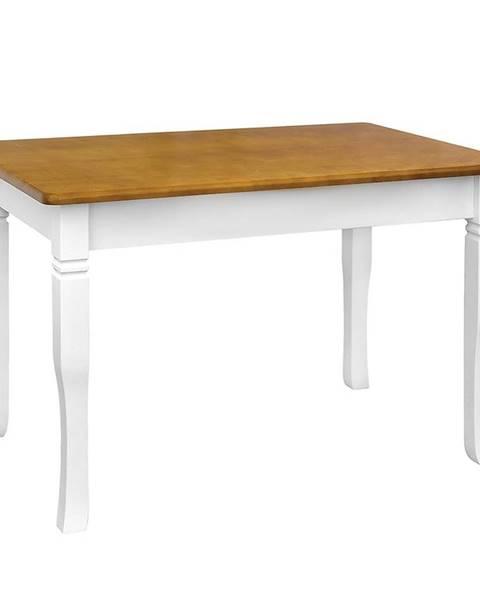 MERKURY MARKET Jedálenský stôl Mars biely+ dub 120X70