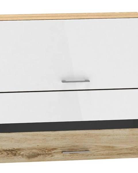 MERKURY MARKET Skrinka do kuchyne Mocca W80 GRF/2 SP biely lesk