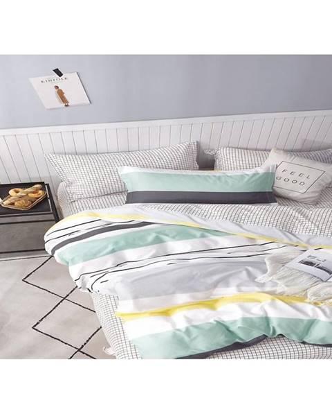 MERKURY MARKET Bavlnená saténová posteľná bielizeň albs-01018b/2 140x200 lasher