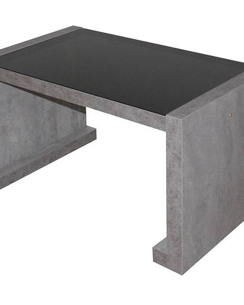 MERKURY MARKET Konferencny stolik Arsinoe betón/čierne sklo