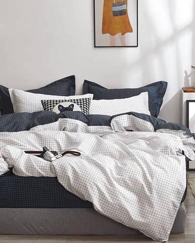 Bavlnená saténová posteľná bielizeň ALBS-01220B 200X220