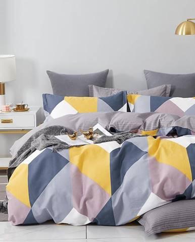 Bavlnená saténová posteľná bielizeň ALBS-01224B 140X200