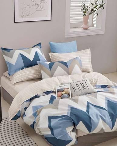Bavlnená saténová posteľná bielizeň ALBS-01225B 160X200