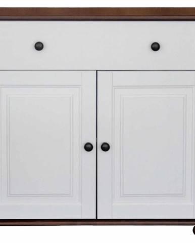 Komoda Nr 41 -2D+1S/90X86X40 hnedý/biela fil