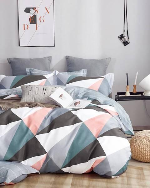 MERKURY MARKET Bavlnená saténová posteľná bielizeň ALBS-01175B/2 140x200