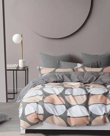 Bavlnená  saténová  posteľná  bielizeň  Albs-01139b/2  140x200