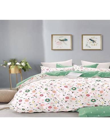 Bavlnená saténová posteľná bielizeň Albs-01141b/2  140x200 Lasher