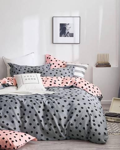 Bavlnená saténová posteľná bielizeň ALBS-01171B/3 160x200