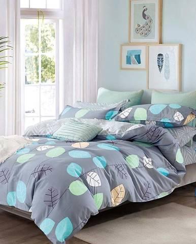 Bavlnená sátenová posteľná bielizeň ALBS-0979B/2 140x200