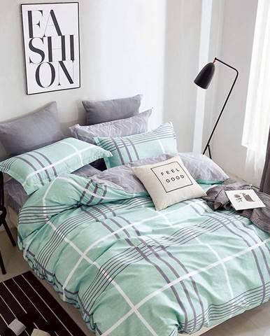 Bavlnená sátenová posteľná bielizeň ALBS-0990B/2 140x200