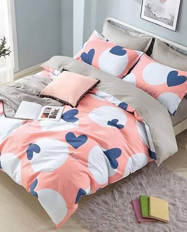 Bavlnená sátenová posteľná bielizeň ALBS-0992B/2 140x200