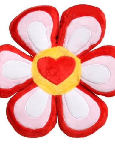 Poduška KVET FAM0381 červená+ružovy