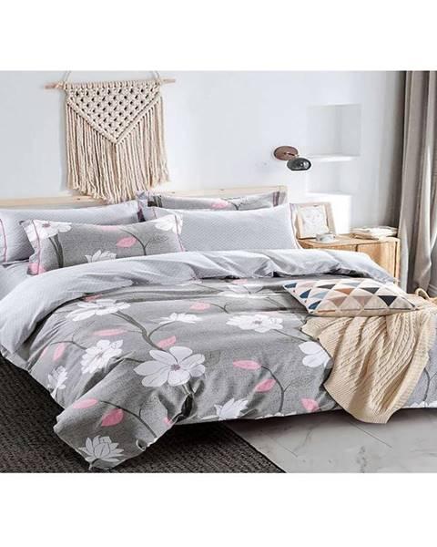 MERKURY MARKET Bavlnená saténová posteľná bielizeň albs-01069b/2 140x200 lasher