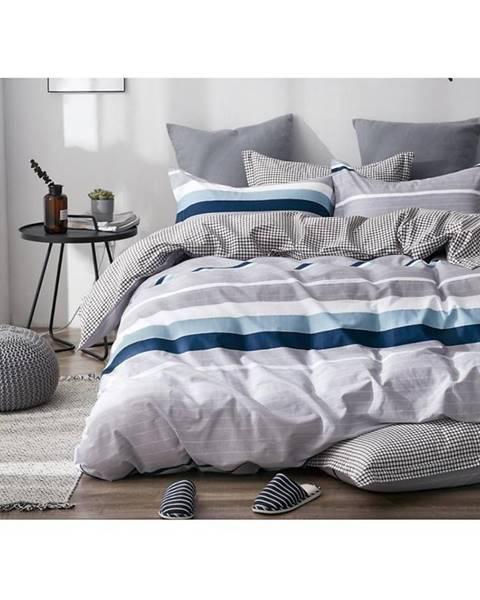 MERKURY MARKET Bavlnená saténová posteľná bielizeň albs-01084b/2 140x200 lasher