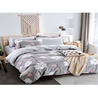 Bavlnená saténová posteľná bielizeň albs-01069b/2 140x200 lasher