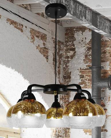 Cromina Gold Závesné svietidlo 5x60w E27 Čierna