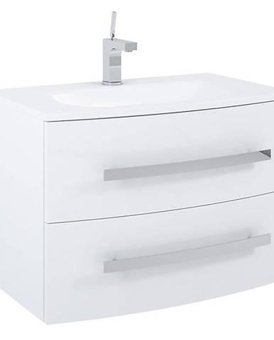 Kúpeľňová skrinka pod umývadlo Perla White 80 2S biela