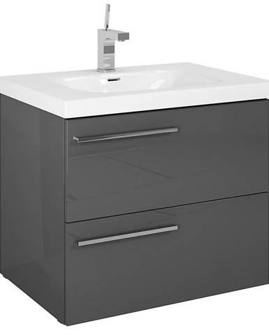 Kúpeľňová skrinka pod umývadlo Royal  70 2S anthracite DSM