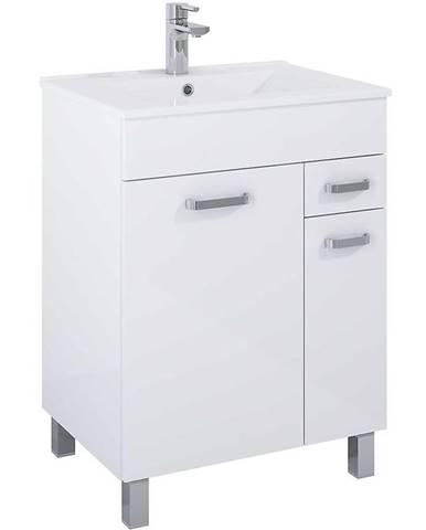 Kúpeľňová skrinka Uno Kyra 60 2D1S white