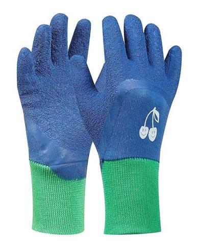 """Rukavice Tommi """"čerešňa"""" modré 4-6 LAT"""