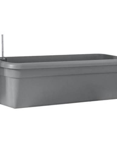 Samozavlažovací truhlík SIENA – antracit 22x80 cm