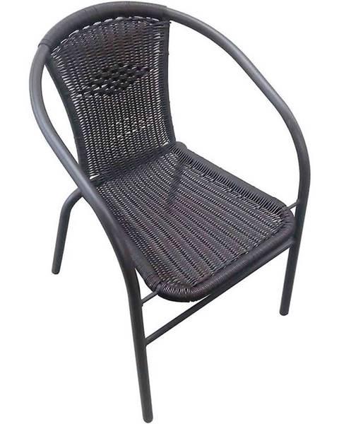 MERKURY MARKET Ratanová stolička čierna