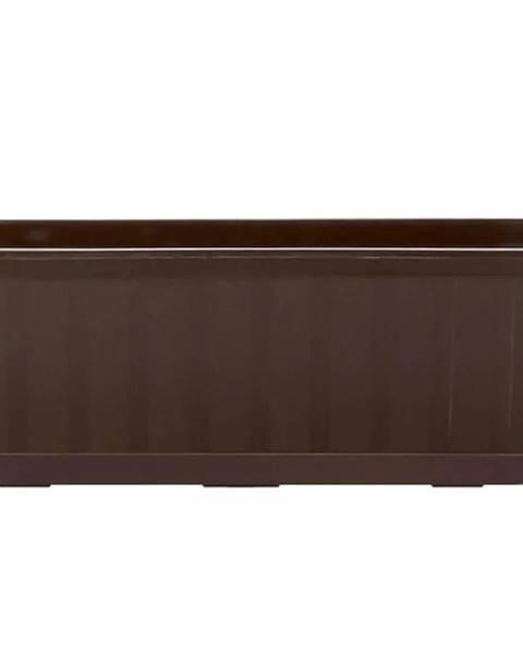 MERKURY MARKET Kvetinač balkónový Agro IS400 R222 hnedý