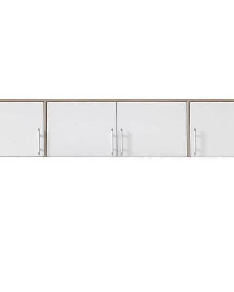 MERKURY MARKET Nadstavec na skriňu Smart  SRN1 200 cm dub sonoma/biela