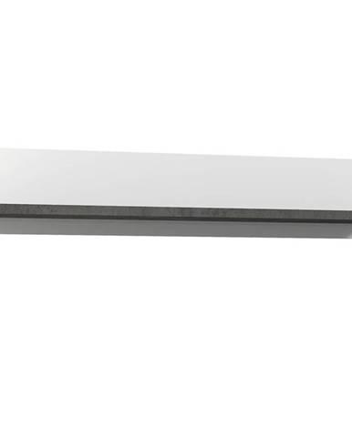 Polička Brugia LCJB01 sivá/biela lesklá