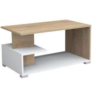 Konferenčný stolík Slimák sonoma/white
