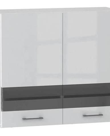 Skrinka do kuchyne Alvico WS80 sklo luxe blanco BB