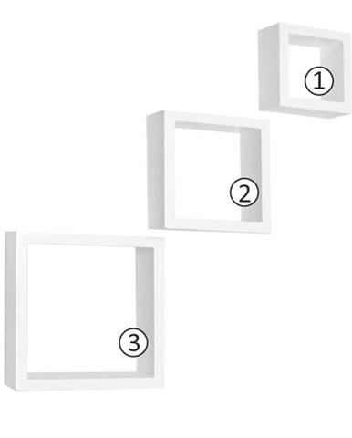 Kvadro New DR-WS-6103 poličky (3 ks) biela