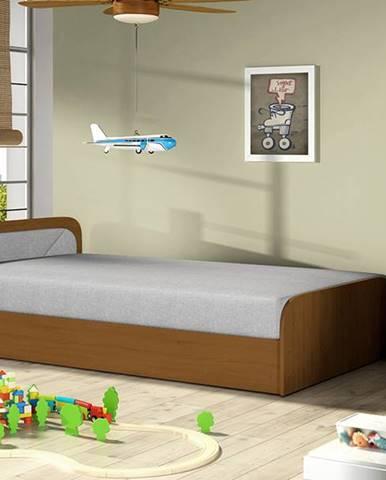 Pinerolo 80 L jednolôžková posteľ s úložným priestorom svetlosivá