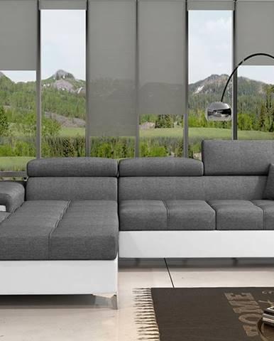 Rosino L rohová sedačka s rozkladom a úložným priestorom sivá (Sawana 05)