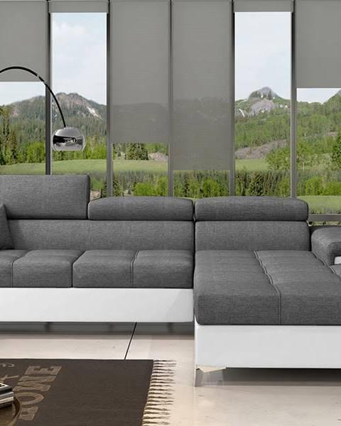 NABBI Rosino P rohová sedačka s rozkladom a úložným priestorom sivá (Sawana 05)
