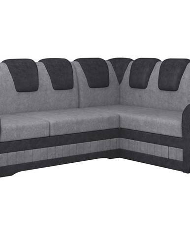 Latino II P rohová sedačka s rozkladom a úložným priestorom sivá