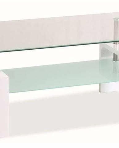 Lisa Basic sklenený konferenčný stolík biela