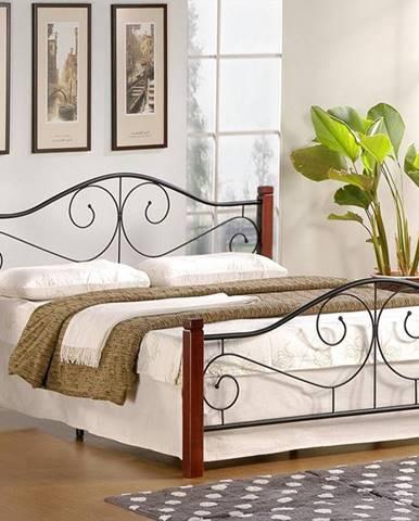 Violetta 120 kovová jednolôžková posteľ s roštom čerešňa antická