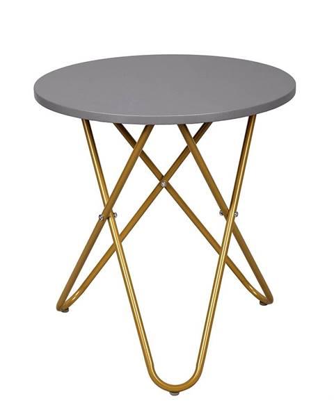 Kondela Rondel okrúhly príručný stolík sivá