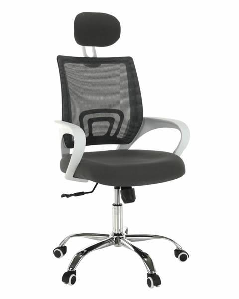Tempo Kondela Sanaz Typ 1 kancelárske kreslo s podrúčkami sivá