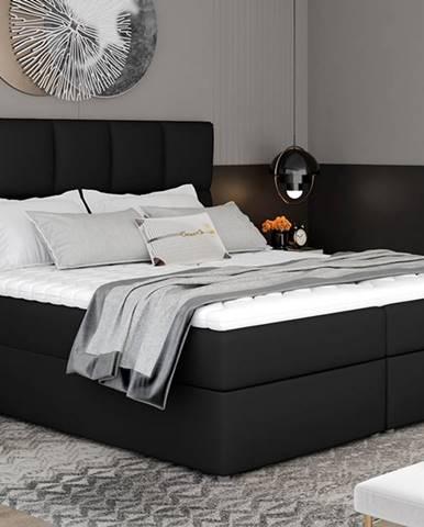 Grosio 185 čalúnená manželská posteľ s úložným priestorom čierna (Soft 11)