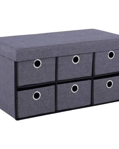 Lumo taburetka s úložným priestorom sivá